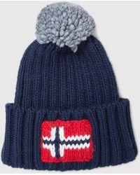 Napapijri - Semiury Wool Mix Beanie Hat - Lyst f6de3a6b618