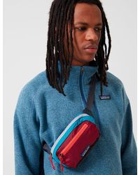 Patagonia Ultralight Black Hole Mini Hip Bag (patchwork) - Red