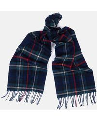 Barbour New Check Tartan Scarf - Blue