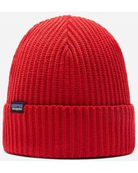 Patagonia Fisherman's Rolled Beanie Rincon Red