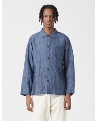 Universal Works | Afro Chambray Bakers Overshirt | Lyst