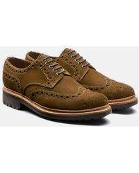 Grenson Archie Brogue Suede Shoes