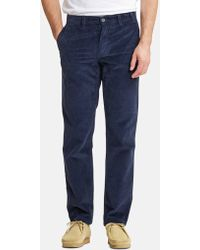 Norse Projects Aros Corduroy Chino - Blue