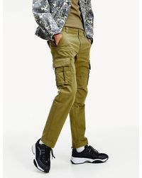 Tommy Hilfiger Stretch Cotton Straight Fit Cargo Pants - Green