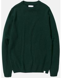 Norse Projects Sigfred Knit Sweatshirt (lambswool) - Green