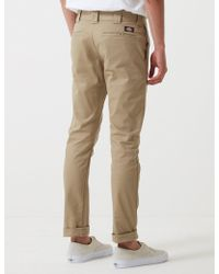 Dickies 803 Chino Trousers (slim Skinny) - Natural
