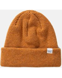 Norse Projects 'norse' Beanie Hat Brushed (lambswool) - Yellow