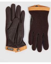 Hestra Tricot Deerskin Wool Gloves - Brown