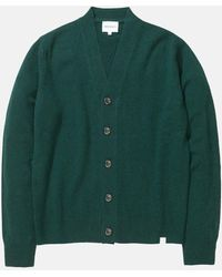 Norse Projects Adam Cardigan (wool) - Green