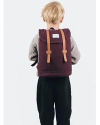 Sandqvist Stig Mini Backpack (canvas) - Purple