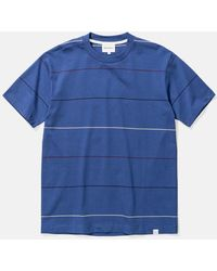 Norse Projects Johannes Thin Stripe T-shirt - Blue