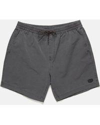 Deus Ex Machina Sandbar Solid Garment Dye Shorts - Black