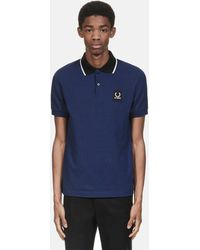 Fred Perry - X Raf Simons Contrast Collar Pique Shirt - Lyst