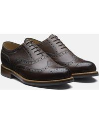 Grenson Stanley Brogue Shoes (grain Leather) - Brown