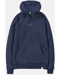 Norse Projects Ketel Hooded Sweatshirt - Blue