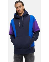 Tommy Hilfiger Tommy Jeans Color Block Hoodie - Blue
