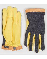 Hestra Tricot Deerskin Wool Gloves - Yellow