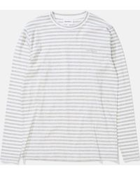 Norse Projects James Logo Stripe Long Sleeve T-shirt - Gray
