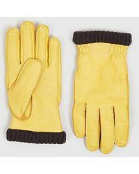 Hestra Deerskin Primaloft Rib - Yellow