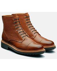 Grenson Joseph Boot (hand Painted Grain) - Brown