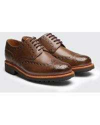 Grenson - Archie Commando Sole Brogue Shoes - Lyst