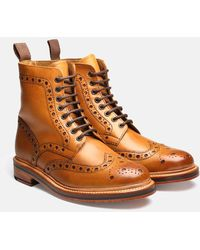 Grenson Fred Calf Brogue Boot (leather) - Brown