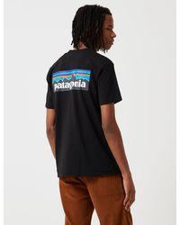 Patagonia P-6 Logo Responsibili-tee Long Sleeved T-shirt - Black