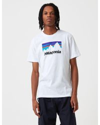 Patagonia Shop Sticker Responsibili-tee T-shirt - White