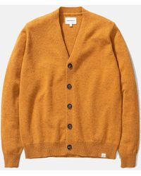 Norse Projects Adam Cardigan (wool) - Yellow