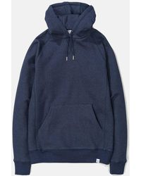 Norse Projects Ketel Classic Hooded Sweatshirt - Blue