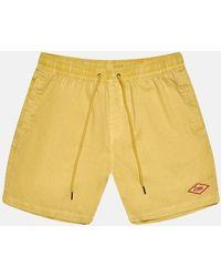 Deus Ex Machina Sandbar Garment Dye Shorts - Yellow