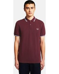 Fred Perry Twin Tipped Polo Shirt - Red