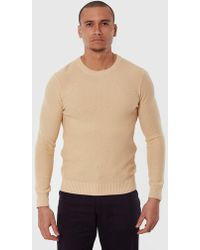 Gant Rugger Textured Knit Sweater - Natural