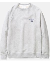 Norse Projects Ketel Ivy Wave Logo Sweatshirt - Grey