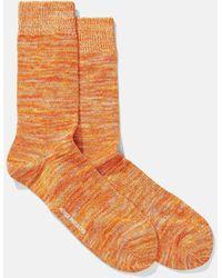 Norse Projects Bjarki Blend Socks - Orange