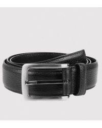 Dents - Textured Leather Belt - Lyst
