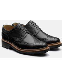 Grenson Archie Commando Sole Shoes (leather) - Black
