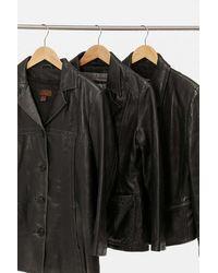 Urban Renewal Vintage Leather Blazer - Black