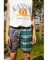 iets frans... Spliced Check Swim Shorts - Multicolor