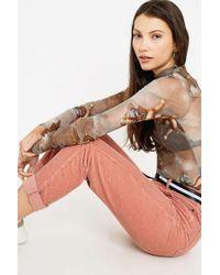 BDG - Mom Dusty Rose Corduroy Trousers - Womens 32w 30l - Lyst