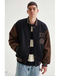 iets frans... Colorblock Varsity Jacket - Black