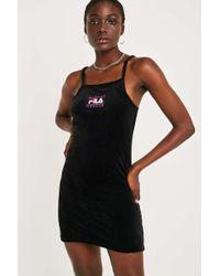 Fila - Nyla Velour Mini Dress - Lyst