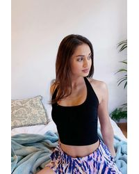 Out From Under Raegan Halter Top - Black