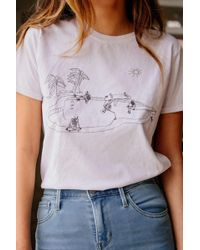 ef8d5ccc102 Project Social T Constellation T-shirt - Womens S in Blue - Lyst