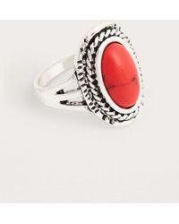 Urban Outfitters - Vintage Style Orange Semi-precious Stone Ring - Lyst