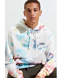 Barney Cools Ripple Tie-dye Hoodie Sweatshirt - Blue