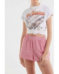 Urban Renewal - Remnants Pull-on Gingham Short - Lyst