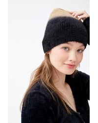 Urban Outfitters Ombré Fuzzy Furry Beanie - Blue