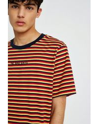 Urban Outfitters - Uo No Bad Days Emblem Stripe T-shirt - Lyst