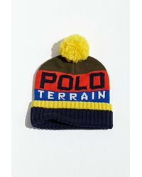 Polo Ralph Lauren Terrain Stripe Pompom Beanie - Multicolour